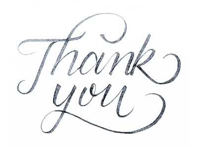 Thank You Lettering thankyou handtype stationary type lettering