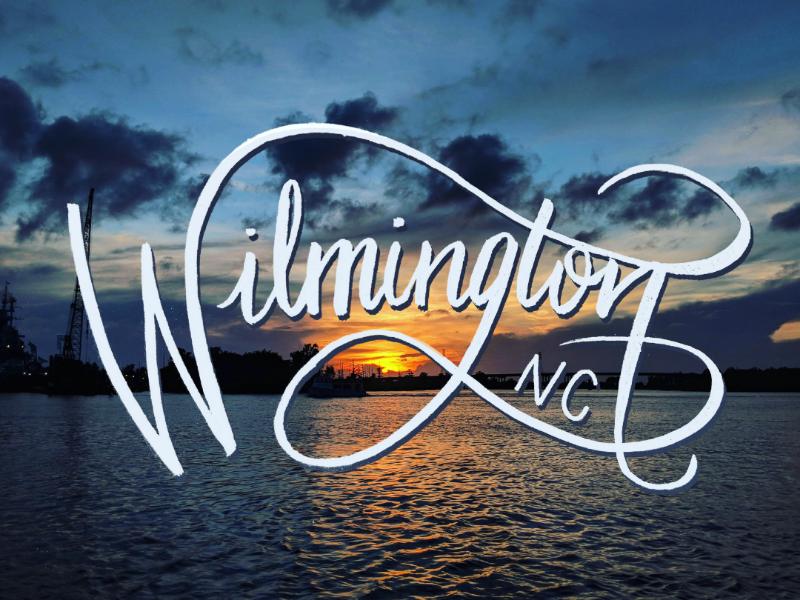 Wilmington Lettering typography landscape wilmington design lettering