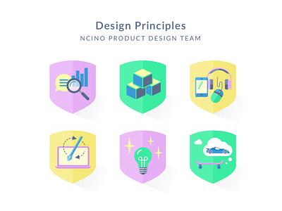 Design Principles values design system purple lightbulb sheild icon design principles principles design