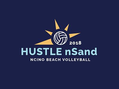 Beach Volleyball Logo apparel ball sun blue design logo shirt volleyball
