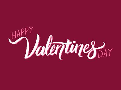 Valentine's Day Lettering pink card design lettering valentine valentines day