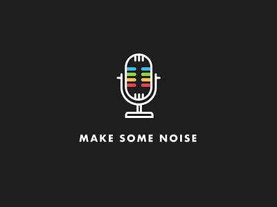 Microphone Icon noise white black design icon microphone