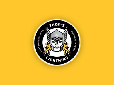 Thor's Lightning Team Badge
