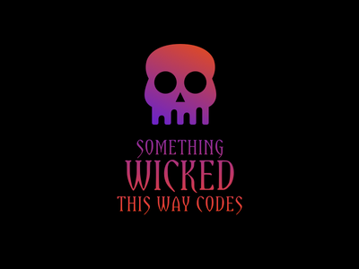 Halloween Hackathon gradient pink black poster logo skull