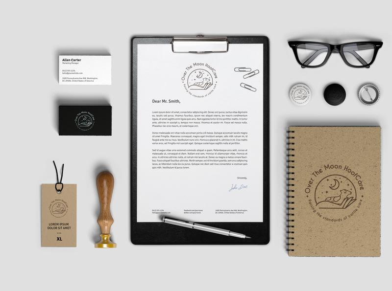 Hoofcarre flat vector typography logo branding illustration design brand design