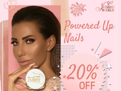 Jana Nails - Cosmetics brand design branding design branding design facebook ads social media design
