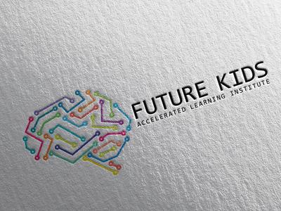 Future Kids branding typography logo illustration vector design