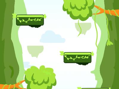 Forest Background uidesign flat design vector illustration game asset game art
