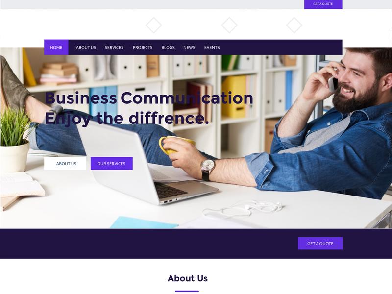 Business Website website design website concept flat design vector illustration