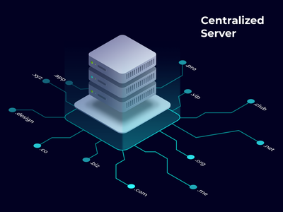 Centralized Server unstoppable domains isometric illustration isometric design isometric isometry illustration domains internet server