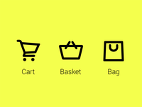 Cart, Basket or Bag?