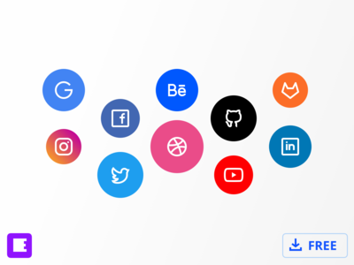 Social Icons by Evericons