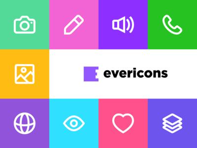 Evericons v.1.1 free icon set freebie icon icons evericons