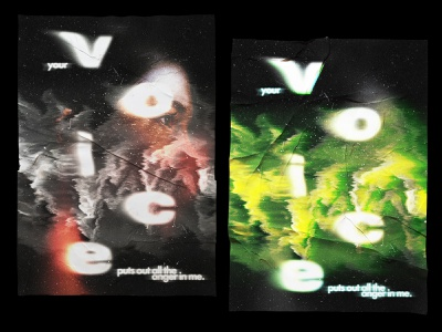 Poster Voice poster advertising graphic concept art adobe typography digital photoshop design