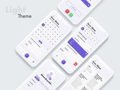 ToDo Concept App product ui prototype task iphone concept design photoshop note calendar light theme mockup purple mobile app design ui ux todo app