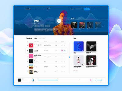 Music Player Concept music art design app play adobe photoshop design khalid chart sound music app ux kanye mgk concept player music ui
