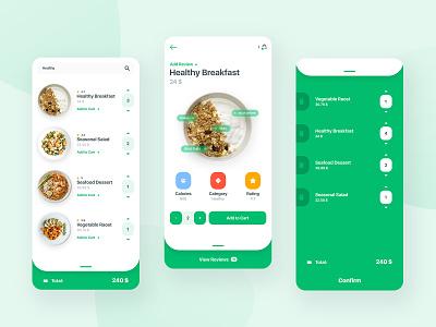 Food App food ios app mobile app mobile ux ui graphic concept adobe photoshop design