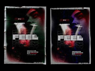 Poster V 10.03.99 concept graphic advertising poster art adobe typography digital photoshop design