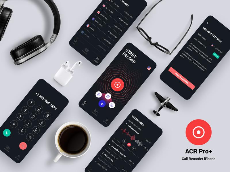 ACR Pro+ - Call Recorder App ui application ui ux application recorder ios iphone app call recorder