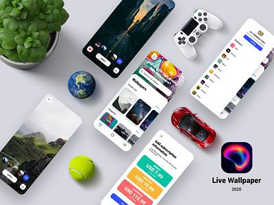 Live Wallpaper - iOS App mobile ios ux clean app ui