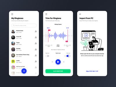 Ringtone Maker Plus clean flat ios ux app ui