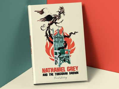 Nathaniel Grey and the Obsidian Crown illustration book cover