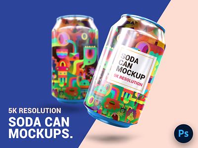 Soda Can Mockup psd mockup soda can soda
