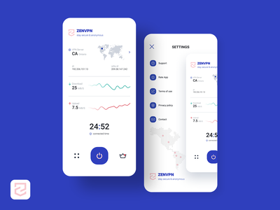 ZENVPN app design proxy vpn ios app