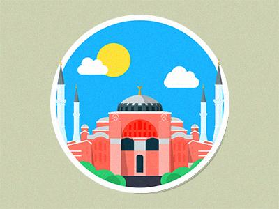 Turkey Hagia Sophia Mosque turkey hagia sophia mosque flat icon