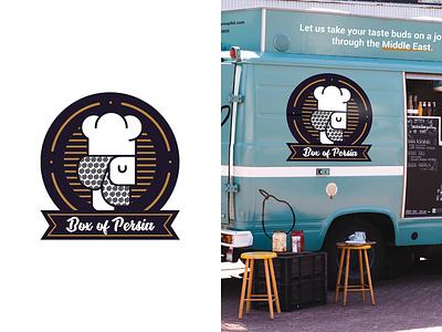 Box of Persia food truck food box food persian logo