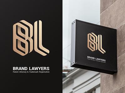 Brand Lawyers typography brand identity logo law lawyers brand