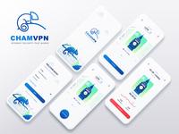 CHAMVPN Mobile App Design