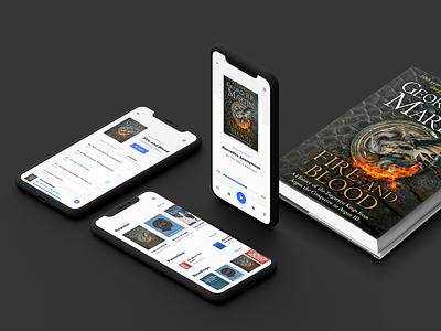 Audio Book App Concept mobile library book game of thrones ios app audio book audiobook