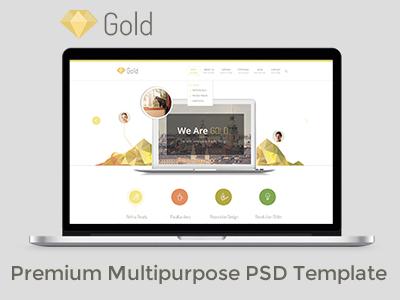 FREE Gold Business Premium Multipurpose PSD Template