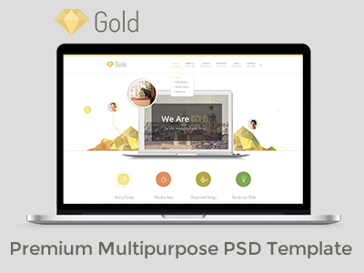 FREE Gold Business Premium Multipurpose PSD Template free website freebie business website business theme corporate modern clean free psd