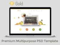 FREE Gold Business Premium Multipurpose PSD Template