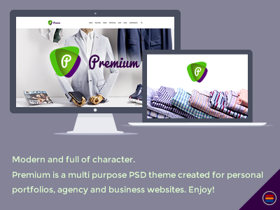 FREE Premium - Premium Business Multipurpose PSD Template modern free website free psd freebie corporate clean business website agency portfolio business theme