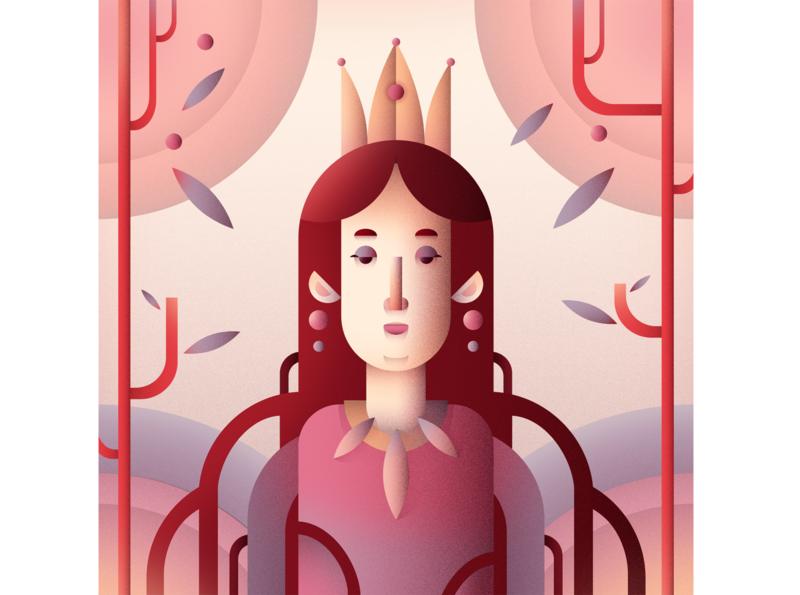 Queen 2 flat character digital flat illustration flat character art illustration