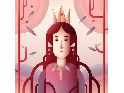 Queen 2 flat character digital flat illustration flat character art illustration