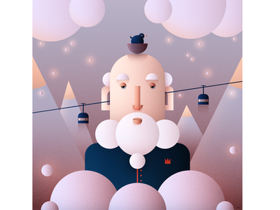 Mountains design digital art mountains flat character character design character illustration flat design flat illustration flat