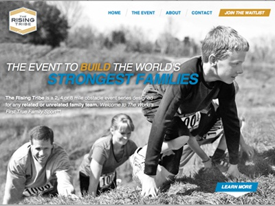 The rising tribe homepage