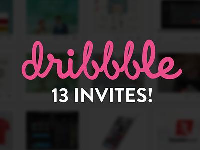 13 Invites! dribbble invites