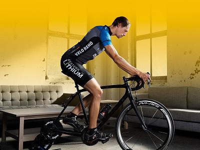 Road Racer yellow branding photo road bike cycling
