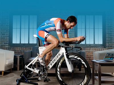 Triathlete blue branding photo triathlon triathlete cycling