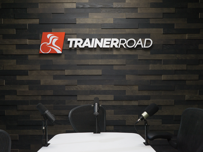 Podcast Room podcast trainerroad cycling signage logo branding