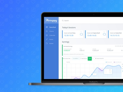 Therappy Dashboard Webdesign
