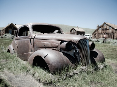 Old car in a farm field creative commons photocrops scrap field farm classic car