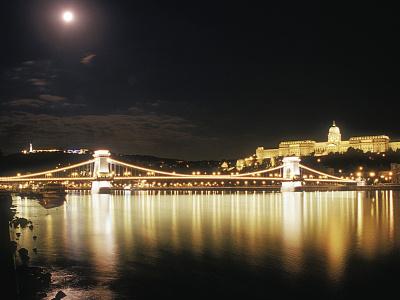 Nighttime Bridge Budapest Photocrops creative commons photocrops photography photo water light nighttime bridge