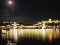 Nighttime Bridge Budapest Photocrops
