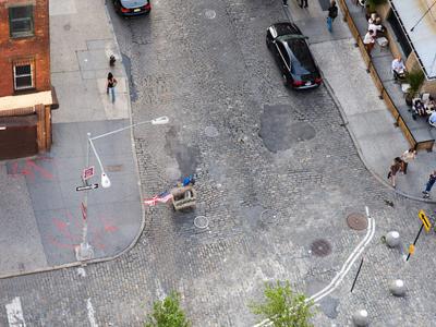 New York City Street Daytime Overhead
